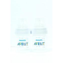 Butelka Avent Classic Plus 2x125ml - system antykolkowy
