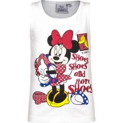 Koszulka na ramiączkach Myszka Minnie rozmiar 104 biała