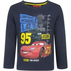 Bluzka długi rękaw Auta Cars rozmiar 128 Granatowy