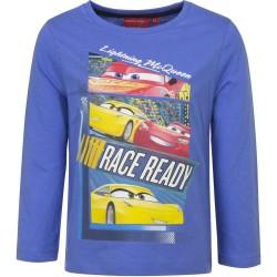 Bluzka długi rękaw Auta Cars rozmiar 128 Niebieski