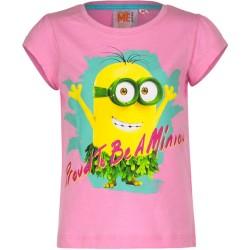 Koszulka T-shirt Minionki rozmiar 98- Róż