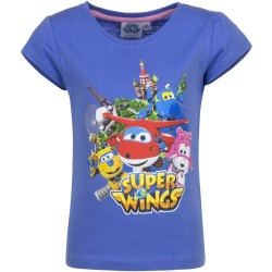 Koszulka T-shirt Super Wings rozmiar 104- Niebieski