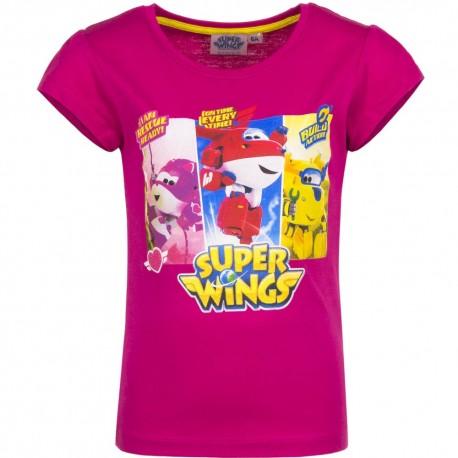 Koszulka T-shirt Super Wings rozmiar 110- Róż