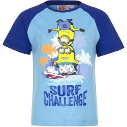 Koszulka  T-shirt Minionki rozmiar 98- Niebieski