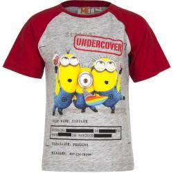 Koszulka T-shirt Minionki rozmiar 128- Szary