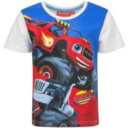 Koszulka T-shirt Blaze i Mega Maszyny rozmiar 128- Biały