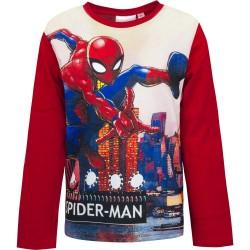 Bluzka długi rękaw Spider-Man rozmiar 128 - czerwony