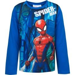 Bluzka długi rękaw Spider-Man rozmiar 128 - niebieski