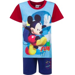 Piżama krótki rękaw Myszka Miki Mickey rozmiar 128