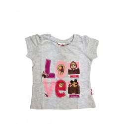 Koszulka T-shirt Masza i Niedźwiedź rozmiar 128
