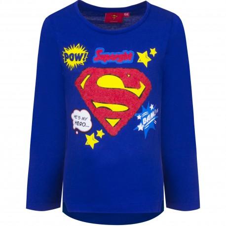 Bluzka długi rękaw Supergirl rozmiar 128